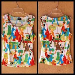 Tribal VINTAGE Top Size Medium